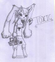 Toxic the Lopunny by Artooinst