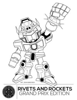 Rivets and rockets 3 exhibit coloring page by genkimon