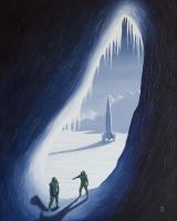 Exploring the ice cave by LMarques