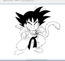 Goku (2009-Never finished) by paultervoorde