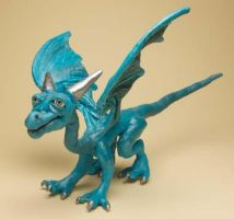 Turquoise Soft Sculpt Dragon by The-GoblinQueen