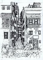 Alley: Painting UnderDrawing by Benjamin-the-Fox