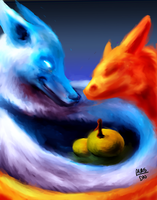 Resonating with fire and ice by DenNami