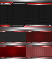 Domination Dark Red Wallpaper Set by SamirPA