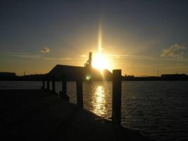 Tampa Shrimp Dock Sunset by INeedAPenName