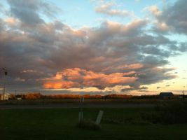 Painted Evening Clouds by dcrods