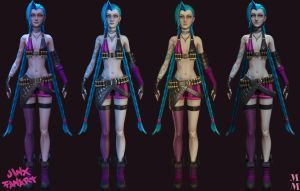 Jinx the loose cannon Lighting test by Azraele