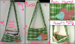 .:Green N Pink Purse:. by Cat-The-Rawr