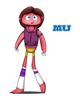 Monsters University OC: Katrina 'Katy' McCrea by Cartuneslover16
