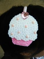 cupcake headband by messypink