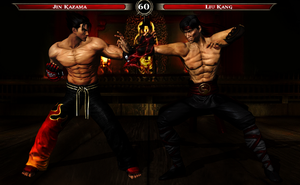 Jin Kazama VS Liu Kang by Tony-Antwonio