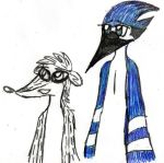 Mordecai and Rigby doddle by YuiHarunaShinozaki