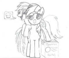 Ask Dash and Derpy Icon (Sketch Edition) by BatmanBrony