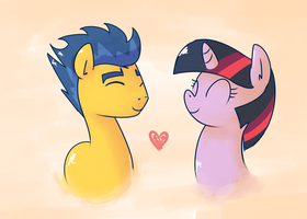 Twilight and Flash Sentry by RustyDooks