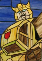 Bumblebee Stained Glass by AutobotWonko