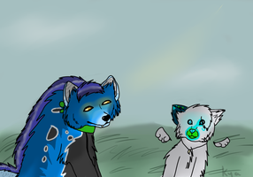 contest Entry: Lets chat of The Old Days by Kyaflufflewolf