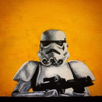 Storm Trooper on Canvas by KightRiot