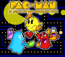 Pac-Man's 30th Anniversery by KaraszKun