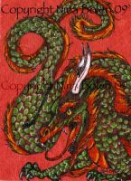 Asian Dragon ACEO by The-GoblinQueen
