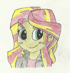 Sunset Shimmer (blushing) by Charizard-power