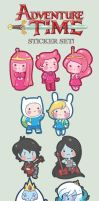 Adventure Time chibis by SiliceB