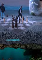 street chess above sea by queenphotoshop
