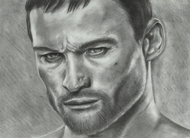 Andy Whitfield from Spartacus by pudasbeast