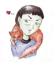Spock and cat by LRaien
