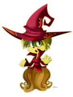 Birthday Art: Broom Witch by SynDuo