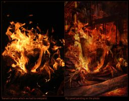 Fire - comparison by vinegar