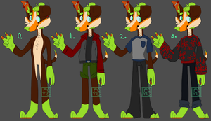 Carrot's Outfits / 2016 Ref by pen-not-pencil