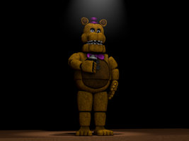 [C4D] Welcome to Fredbear's Family Diner by GaboCOart