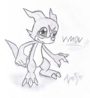 V-mon sketch by AR-ameth