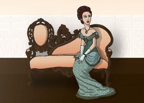 Lounging Victorian Style by vickigia