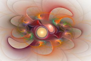 'Light Flame Abstract 107' by SBricker