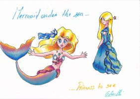 Mermaid under the sea Princess to see by GSunSki