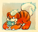Chousen Growlithe by raizy