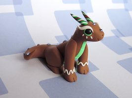 Gingerbread Dragon by KuddlyKreatures