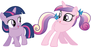 Twily and Cadance - And do a little shake! by rainbowd28