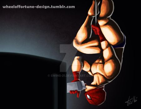 Pinup Spiderman by SWING-21