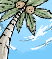 Coconut-tree against the blue skye by Endless-warr