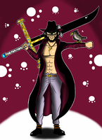 One Piece Dracule Mihawk by Flash-of-Lingt