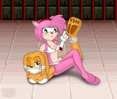 Amy y Tikal by BlackEkiz