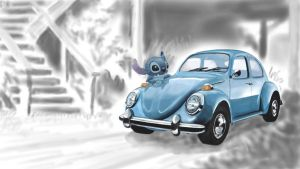 Stitch and Tortoise vehicle by nekokevin