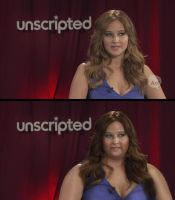 Jennifer Lawrence (BBW Makeover Morph - B and A) by MattBrewer