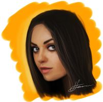 Mila Kunis Speed Painting by LuisFaus
