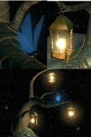 Stars Lanterns and Butterfly by soapdish