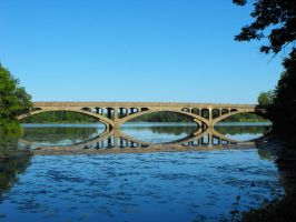 Lake Ontelaunee Bridge by historicbridges
