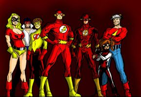 The Flash Family Full Colored by Chickenmonkey707