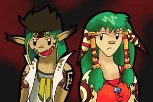 Rapp and Feena by Forrestris
